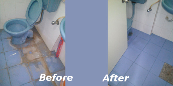 Clean Fanatic bathroom cleaning service - floor
